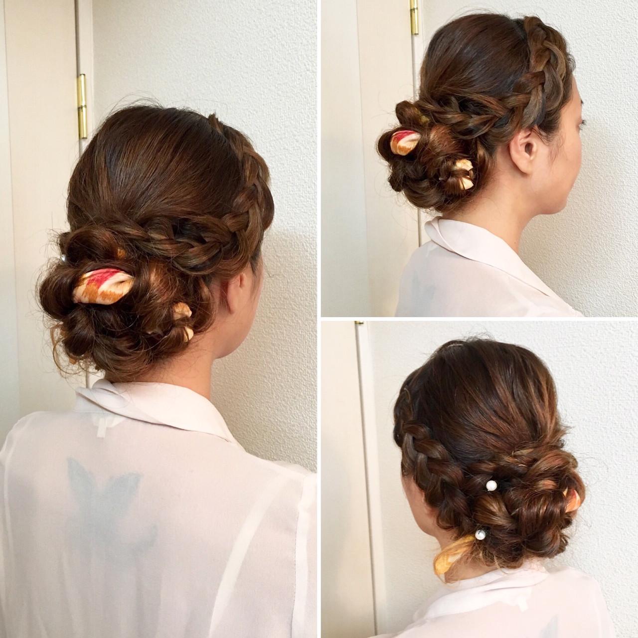 ヘアアクセ 上品 アップスタイル ヘアアレンジ ヘアスタイルや髪型の写真・画像 | a-ko 武田亜弥子 / ヘアメイクRainbow 代表