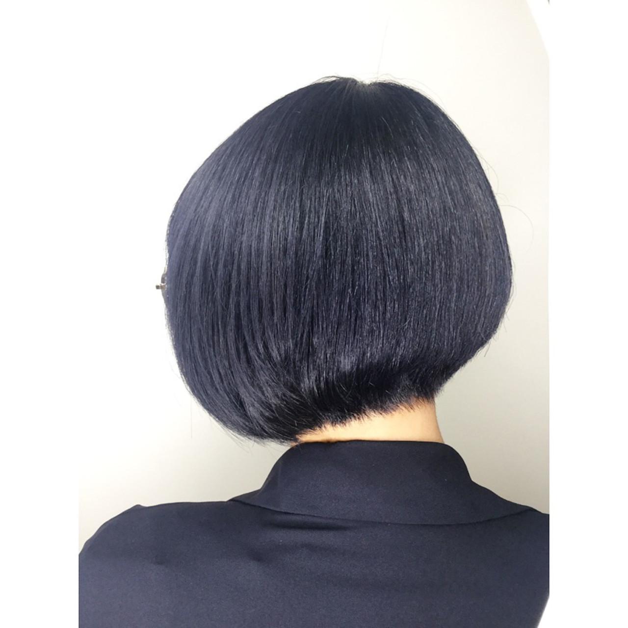まとまるボブ ショート 個性的 ボブ ヘアスタイルや髪型の写真・画像 | 牧野美波 / TONI&GUY 福岡天神サロン