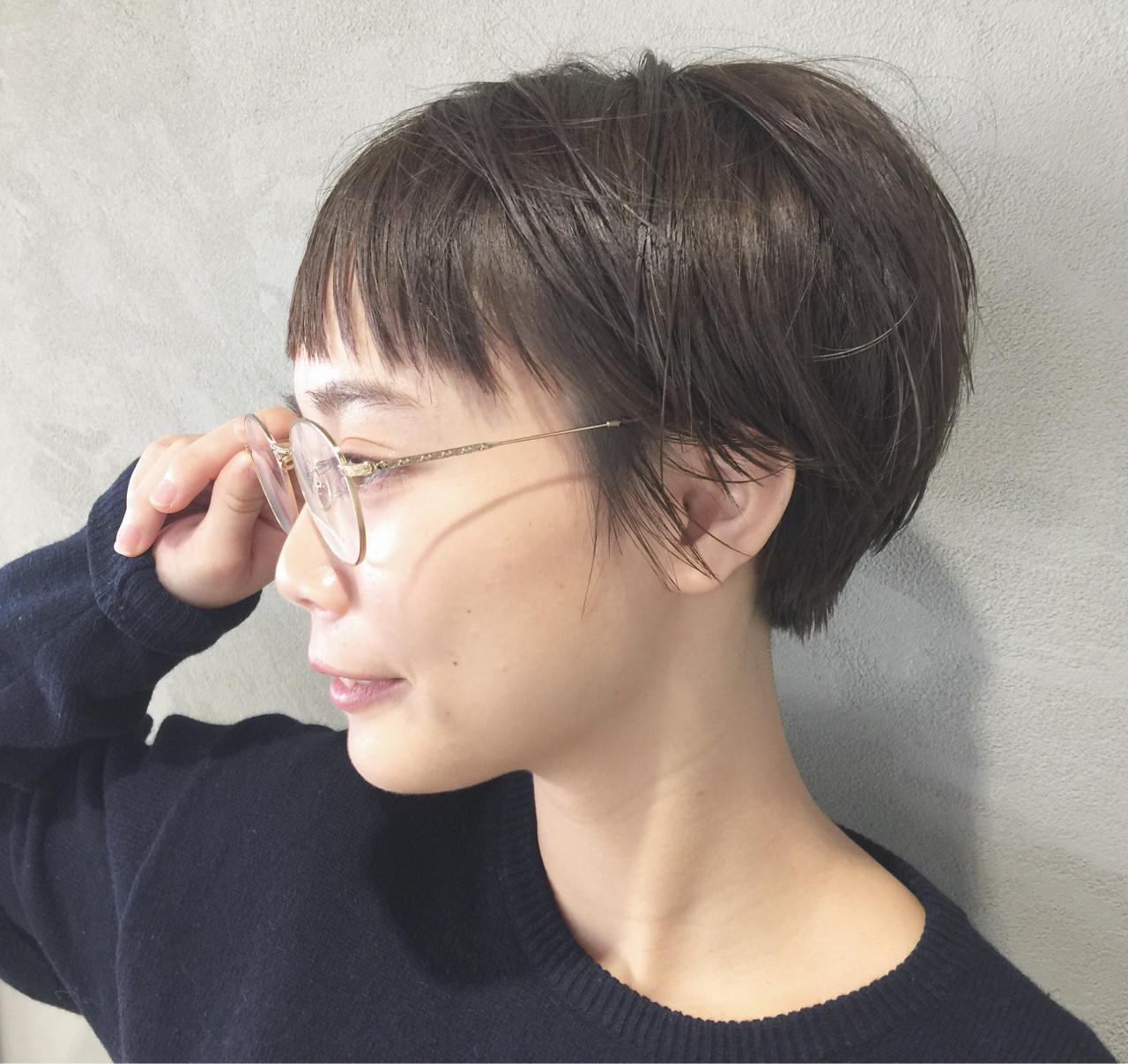 前髪あり ショートボブ ナチュラル ショート ヘアスタイルや髪型の写真・画像 | 高橋 忍 / nanuk渋谷店(ナヌーク)