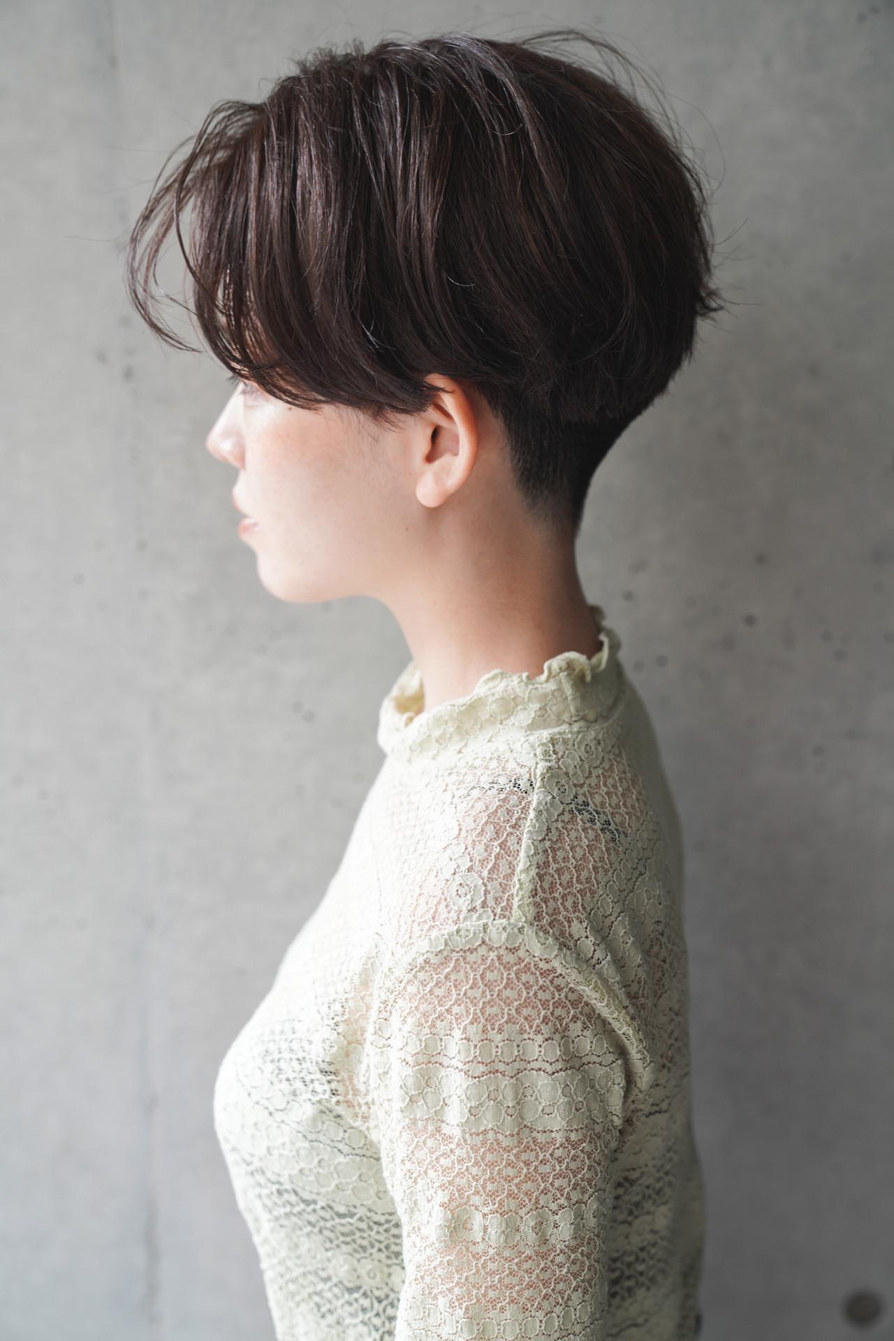 刈り上げ女子 刈り上げショート ハンサムショート 刈り上げ ヘアスタイルや髪型の写真・画像