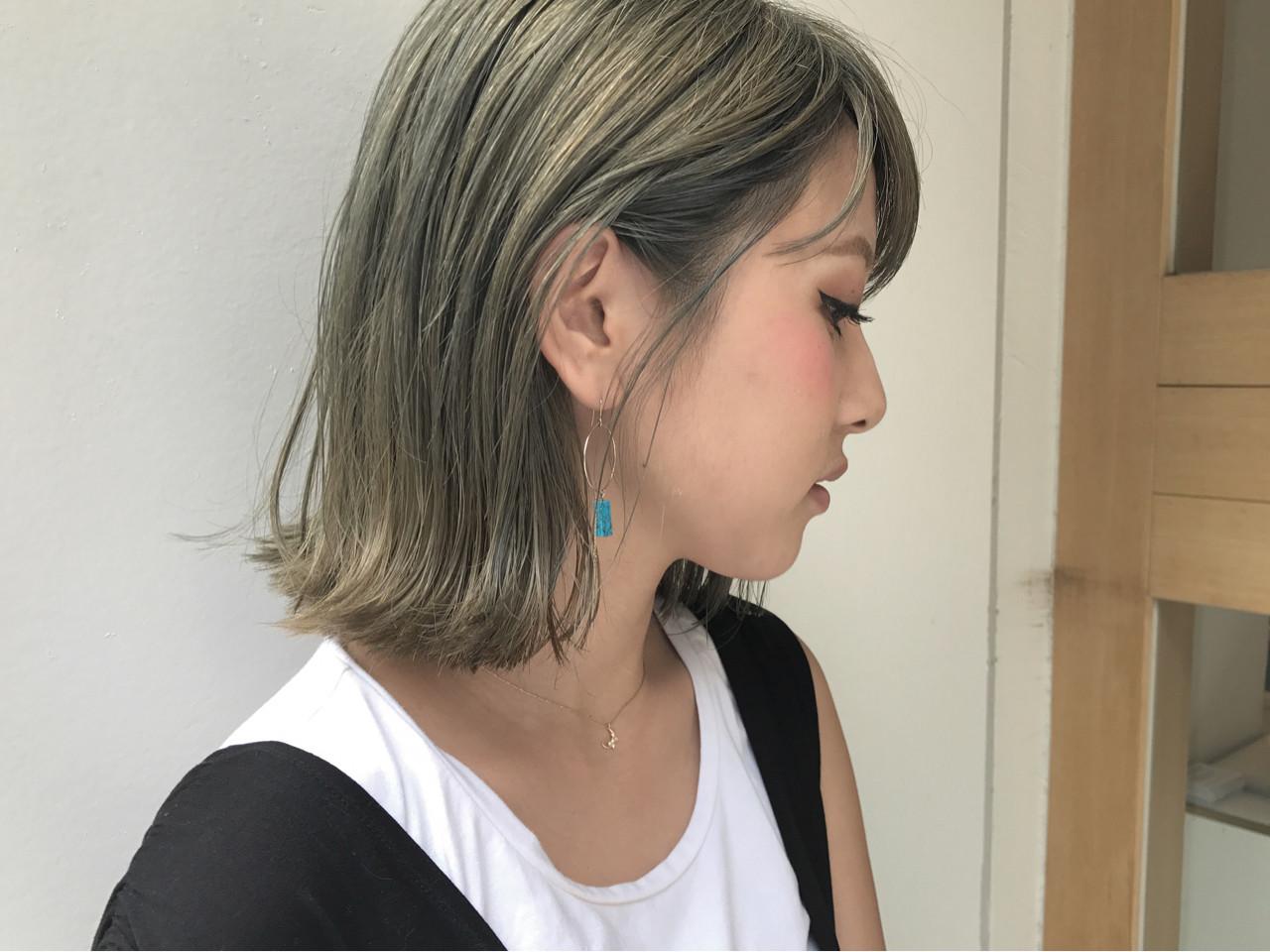 透明感 ナチュラル ハイライト ロブ ヘアスタイルや髪型の写真・画像   KENTO.NOESALON / NOE SALON
