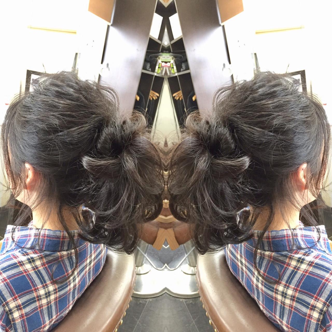 デート かわいい ヘアメイク セミロングヘアスタイルや髪型の写真・画像