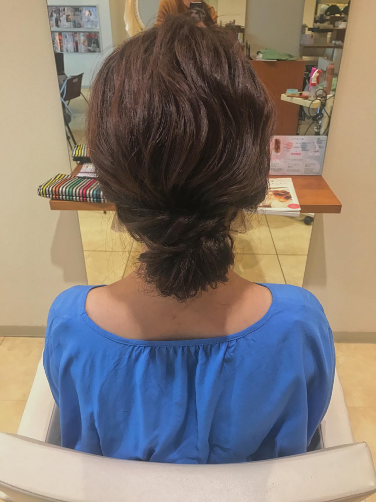ヘアアレンジ ナチュラル ショート デートヘアスタイルや髪型の写真・画像