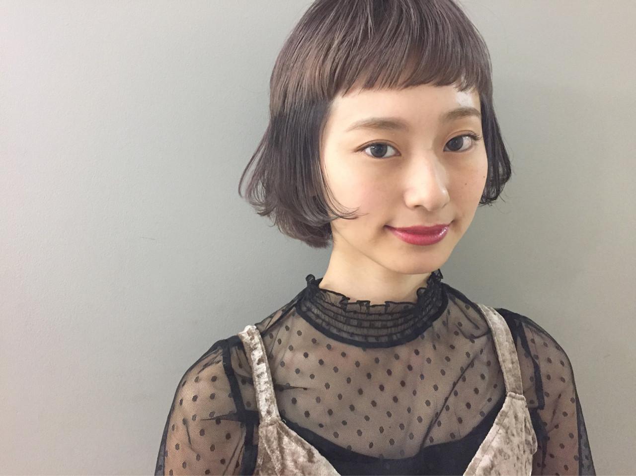 フェミニン モード ヘアアレンジ ボブ ヘアスタイルや髪型の写真・画像 | 野田和宏 / PARKiiiNG