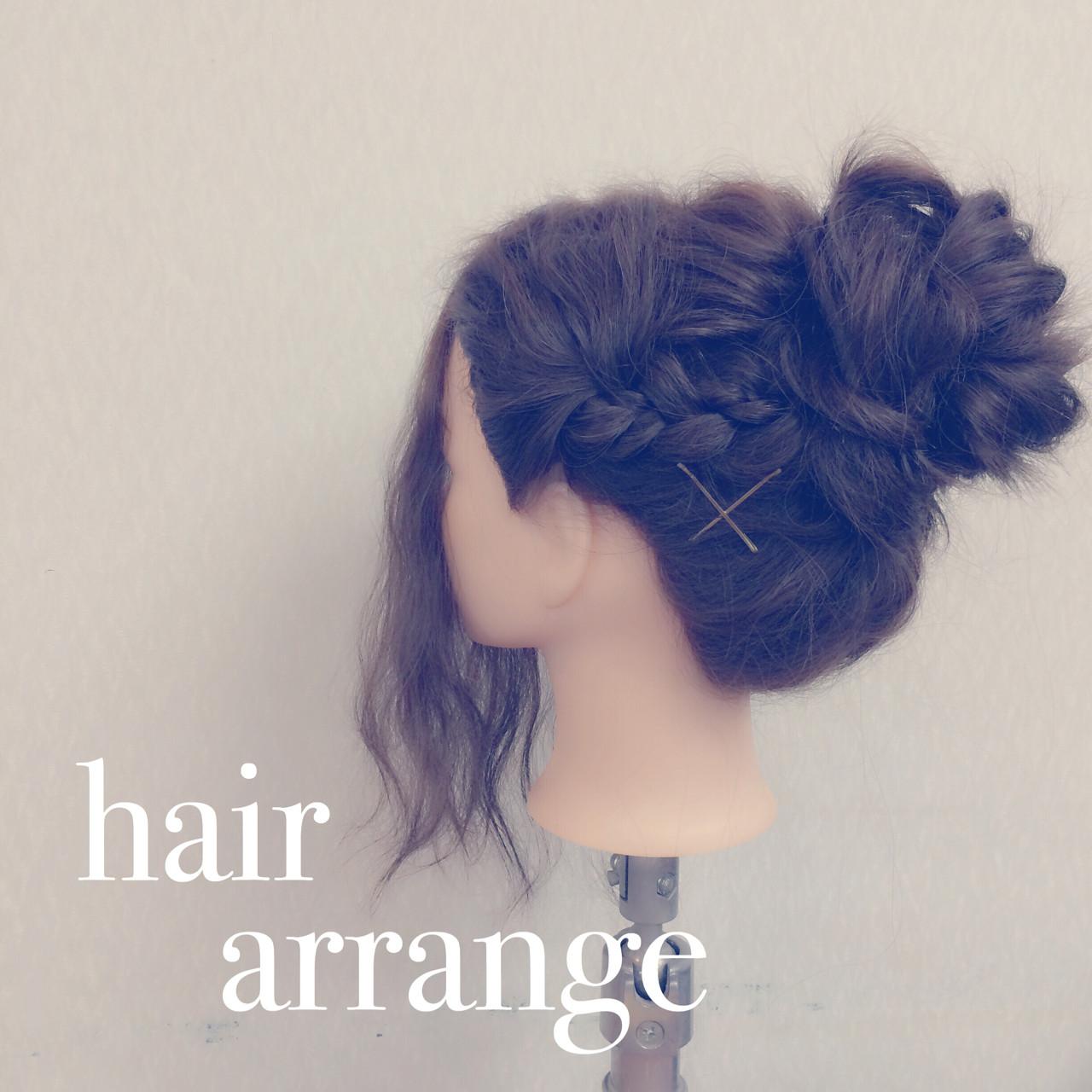 結婚式 セミロング ヘアアレンジ 愛され ヘアスタイルや髪型の写真・画像 | ヤマナカサトル / DIOR of Hair