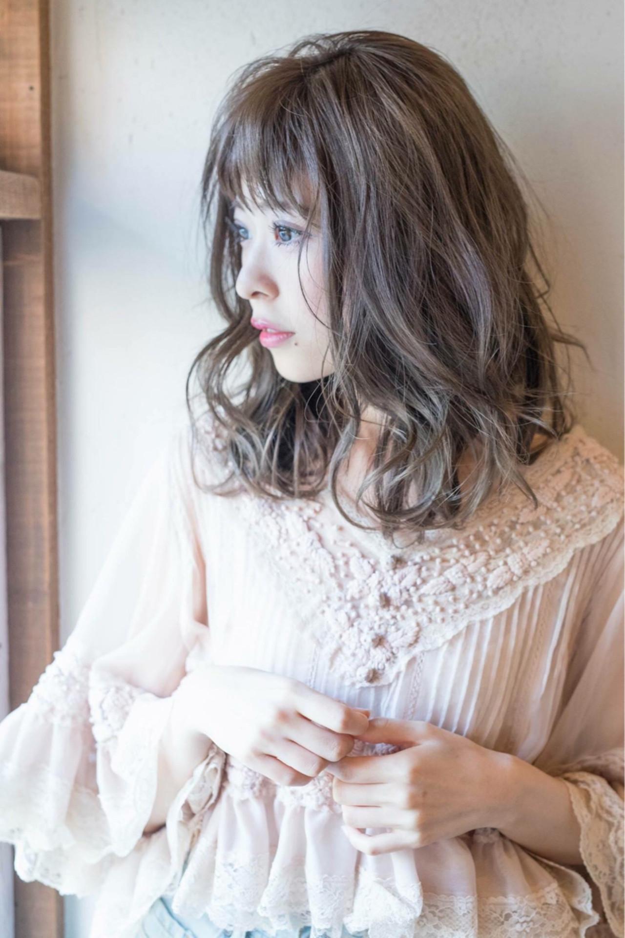 透明感 秋 フェミニン 大人女子 ヘアスタイルや髪型の写真・画像   Fringe 染谷正 / Fringe Hair Salon