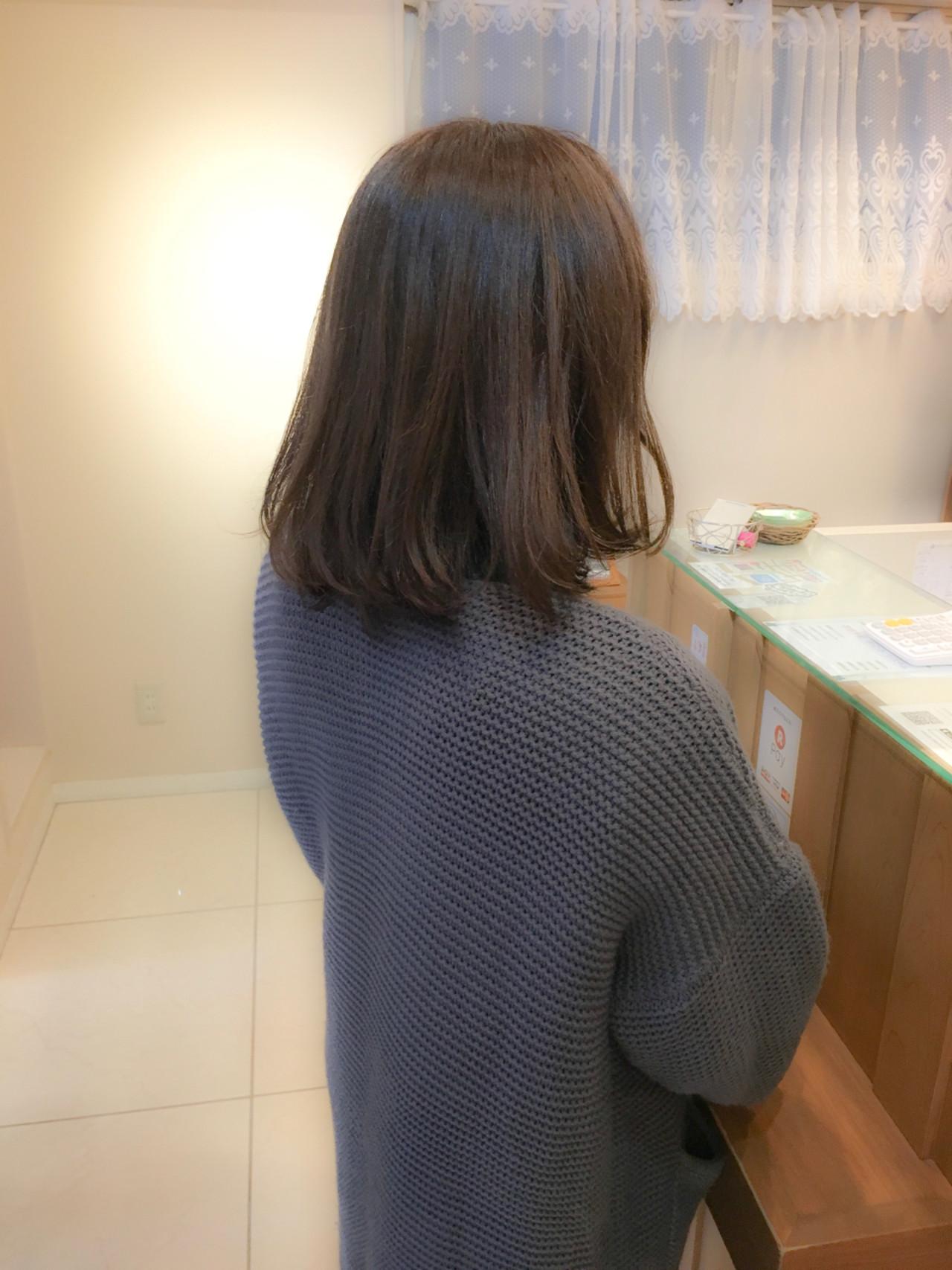 透明感 ナチュラル フェミニン ミディアム ヘアスタイルや髪型の写真・画像 | 《町田の美容師》キタダヒロキ / Hair Frais Make