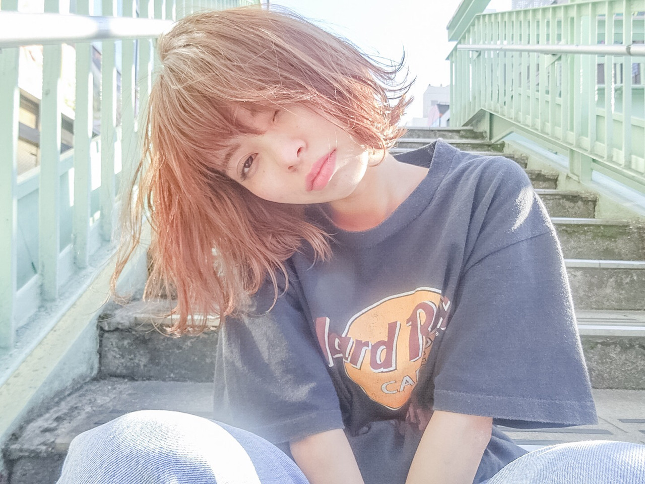 ボブ 外国人風 ストリート ハイライトヘアスタイルや髪型の写真・画像
