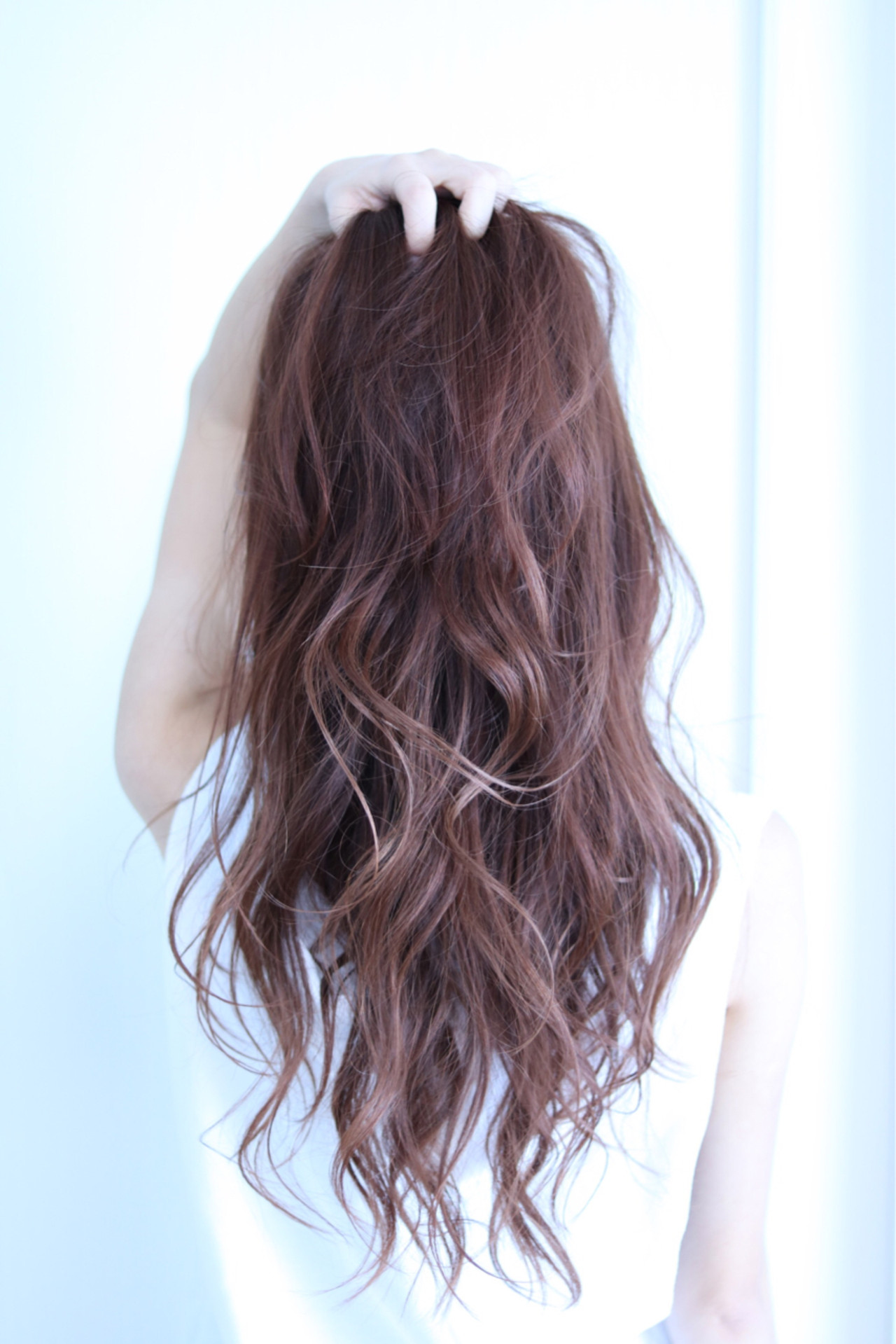おフェロ ストリート レッド ロング ヘアスタイルや髪型の写真・画像   及川翔 / CIEL hair salon