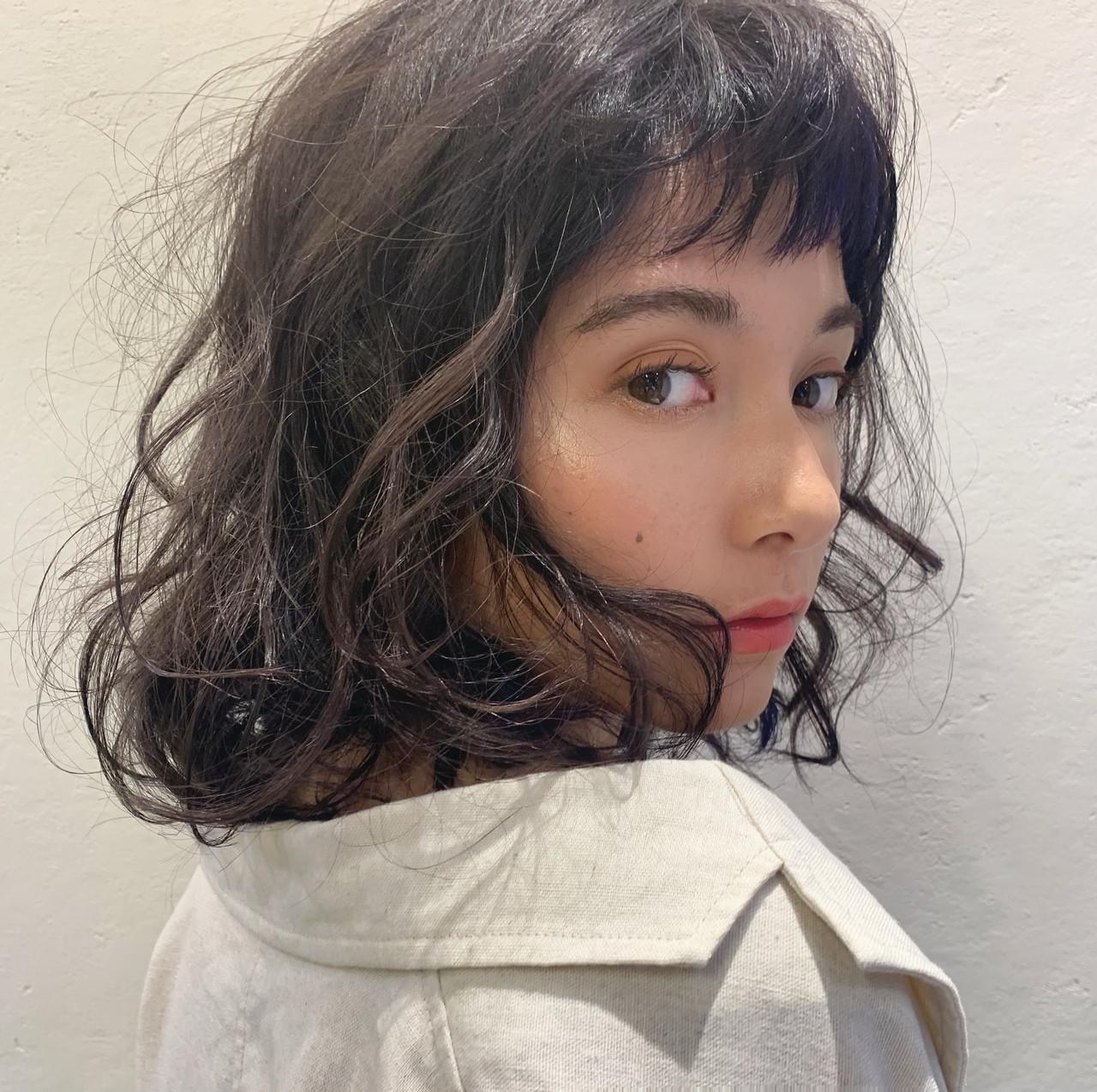 スパイラルパーマ パーマ ボブ ゆるふわパーマ ヘアスタイルや髪型の写真・画像