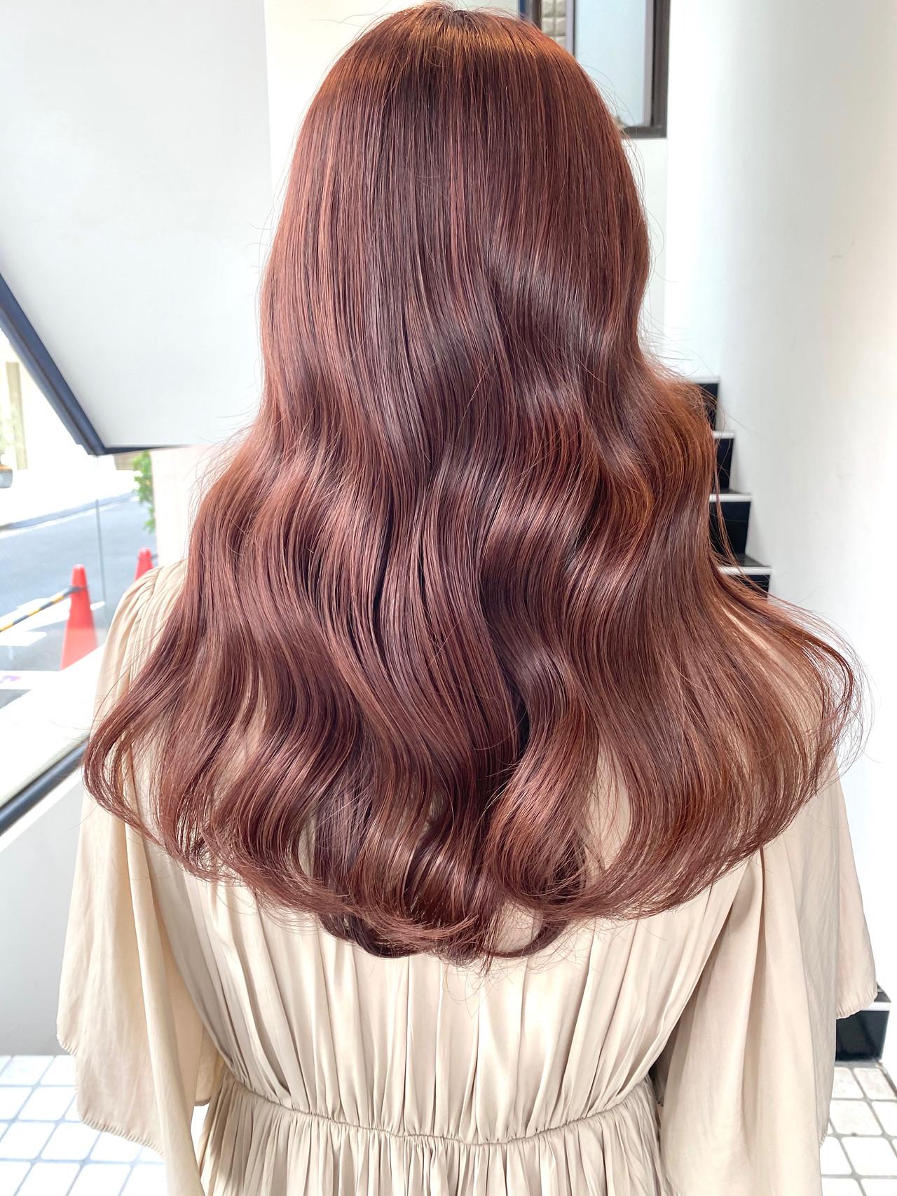 透明感カラー 地毛風カラー 韓国風ヘアー 外国人風カラーヘアスタイルや髪型の写真・画像
