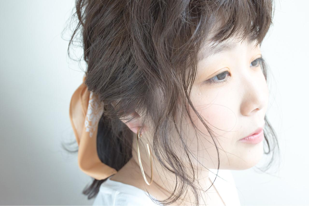ショート セミロング ヘアアレンジ ナチュラル ヘアスタイルや髪型の写真・画像 | chiaki / magnet hair
