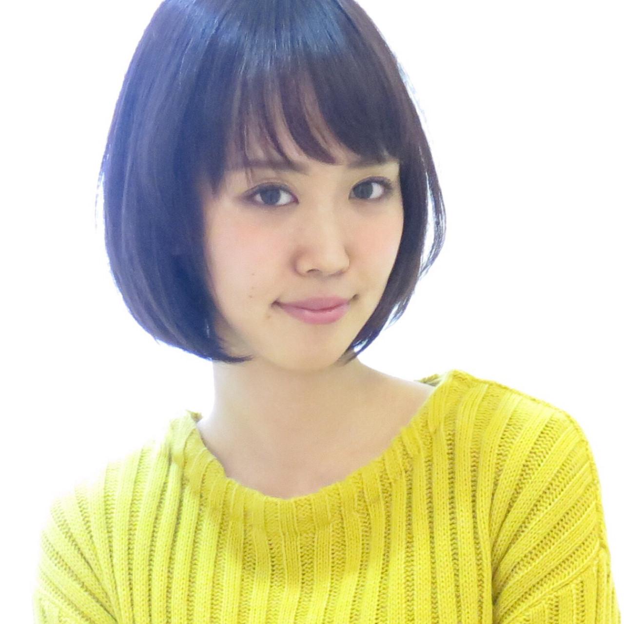 ニュアンス ショート パープル 黒髪 ヘアスタイルや髪型の写真・画像 | イマムラ スナオ / LUKE