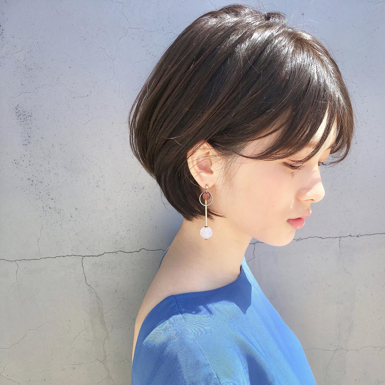 ナチュラル ショート ヘアアレンジ 簡単ヘアアレンジ ヘアスタイルや髪型の写真・画像 | ショートボブの匠【 山内大成 】『i.hair』 / 『 i. 』 omotesando