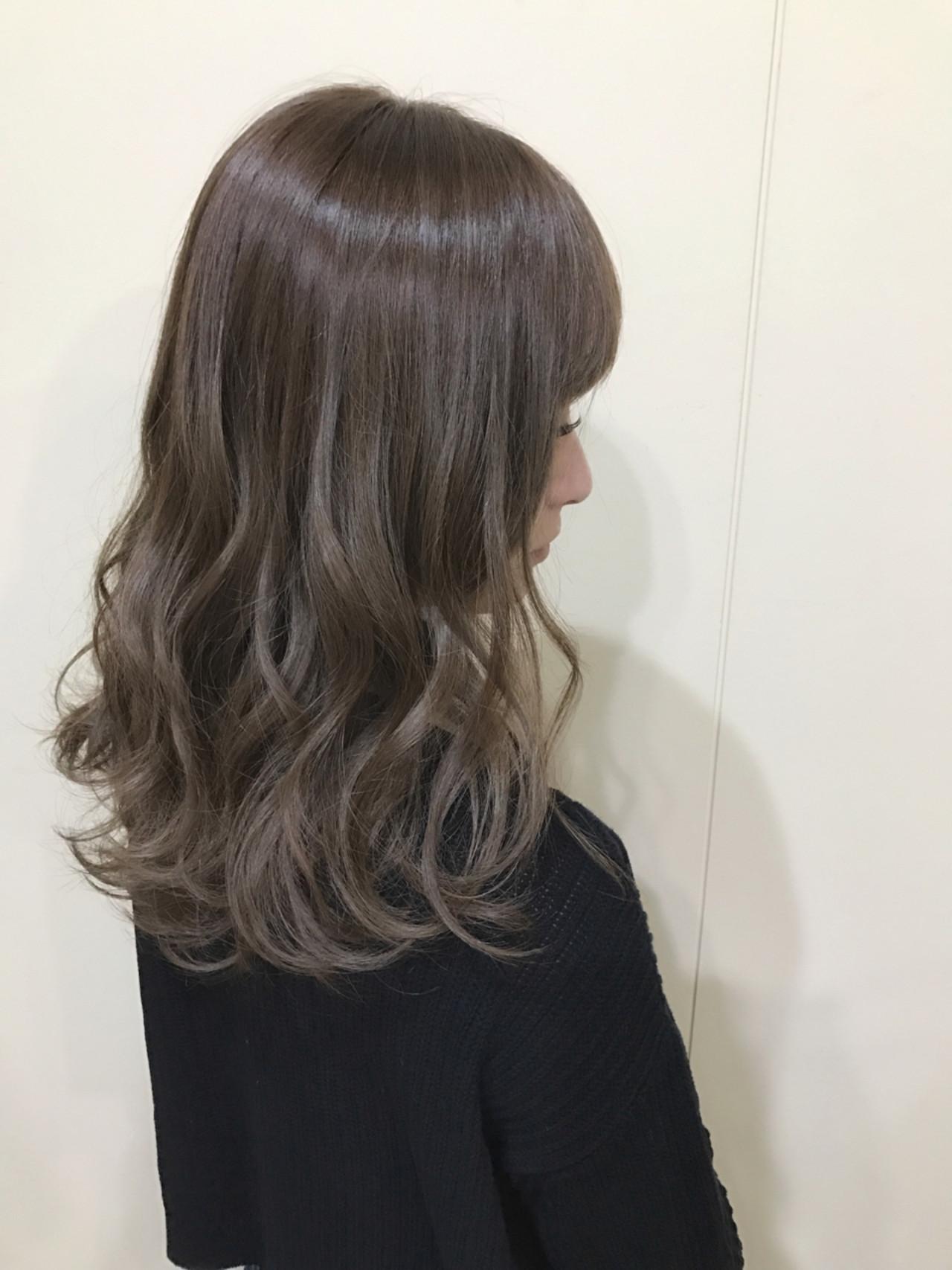 アッシュグレージュ アッシュ モード 外国人風カラー ヘアスタイルや髪型の写真・画像 | サワ / Seamu