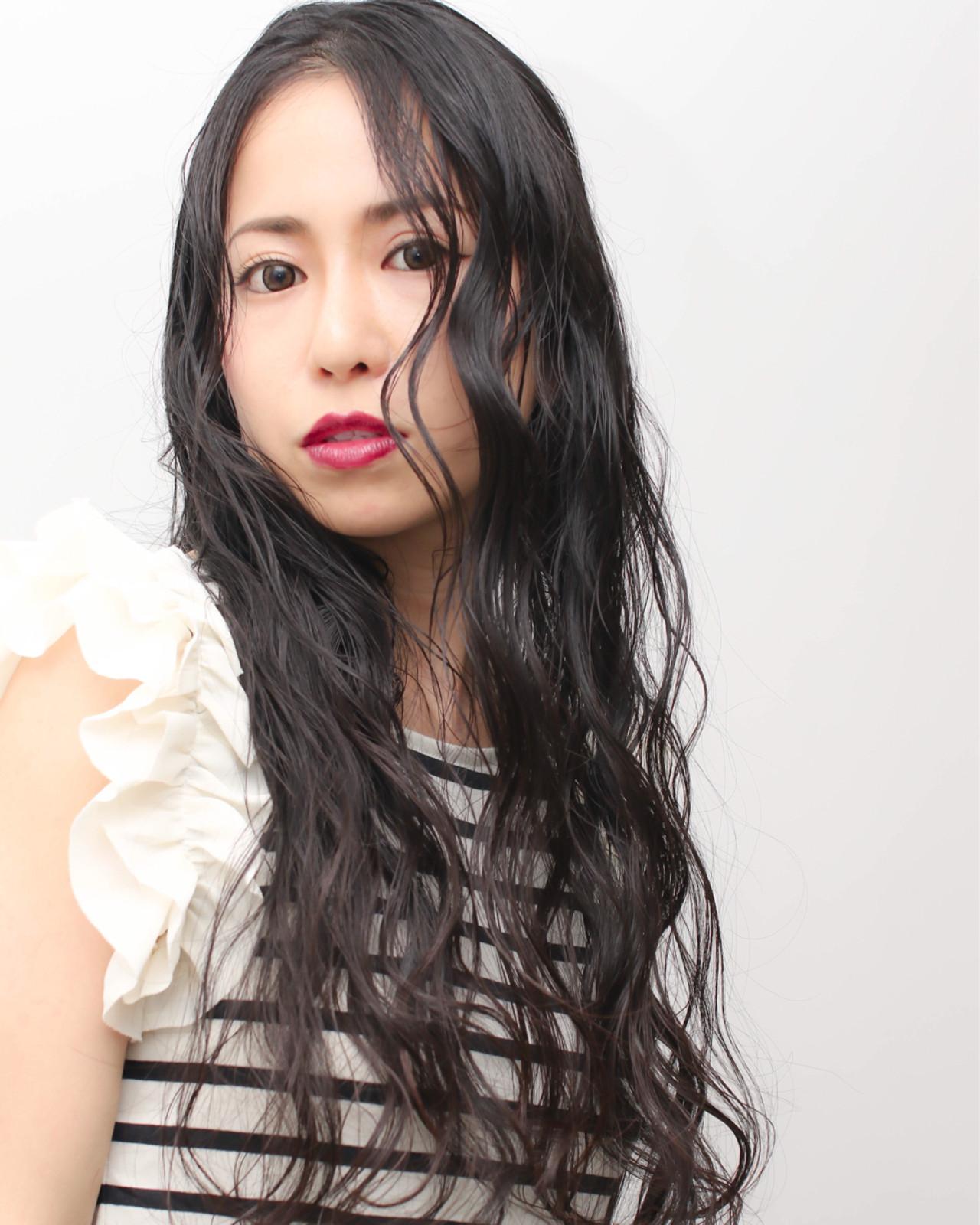 暗髪 夏 ナチュラル パーマ ヘアスタイルや髪型の写真・画像 | katsuhiro sasaki / HAIR&ART  LUMINA