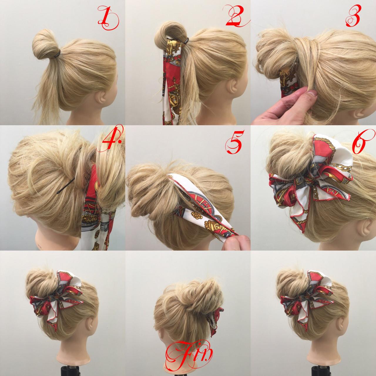 ゆるふわ ロング 簡単ヘアアレンジ メッシーバン ヘアスタイルや髪型の写真・画像   hiroki / Lien