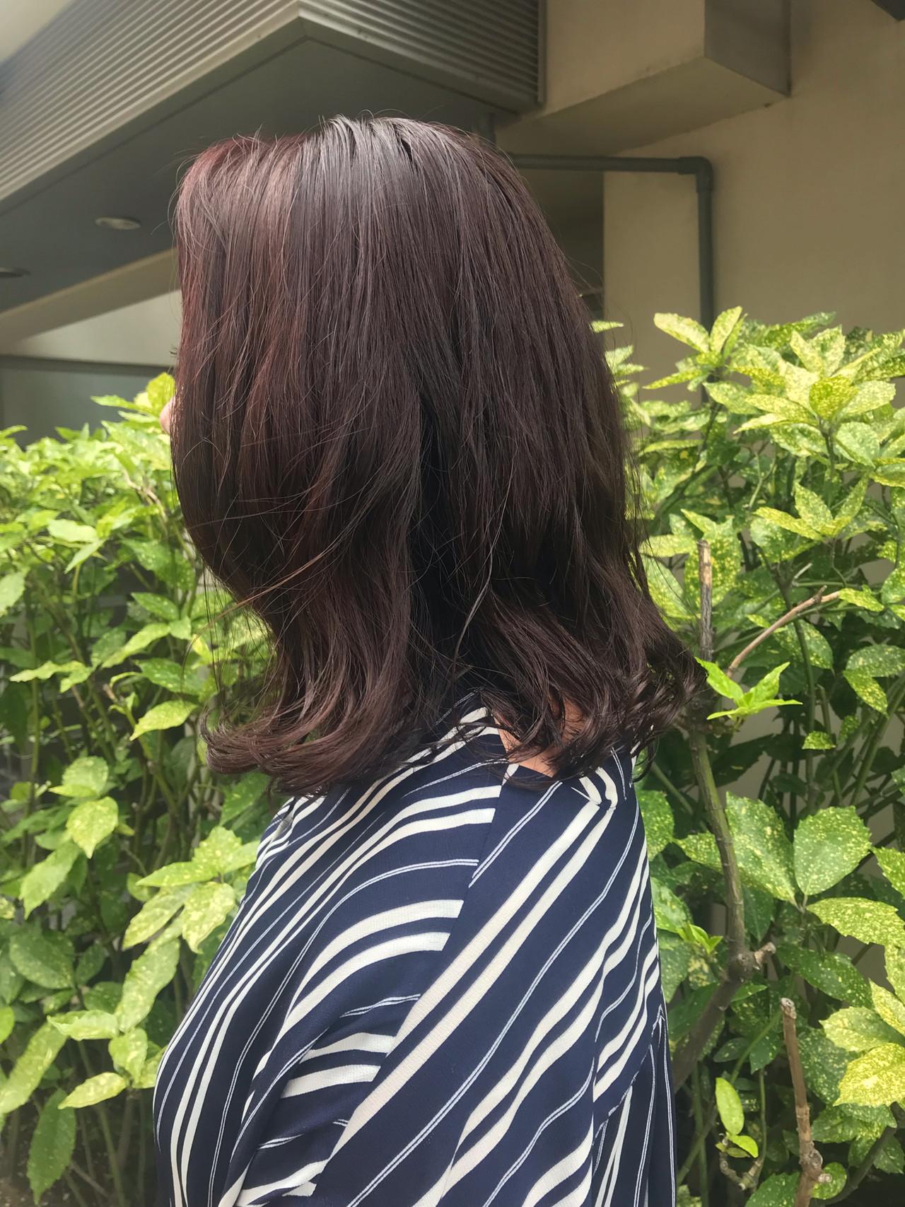 ボブ デジタルパーマ ラズベリーピンク 外ハネ ヘアスタイルや髪型の写真・画像 | 餅しほり / ing / ing