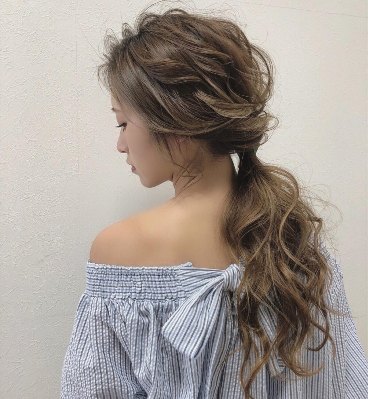 結婚式 ゆるふわ デート ヘアアレンジヘアスタイルや髪型の写真・画像