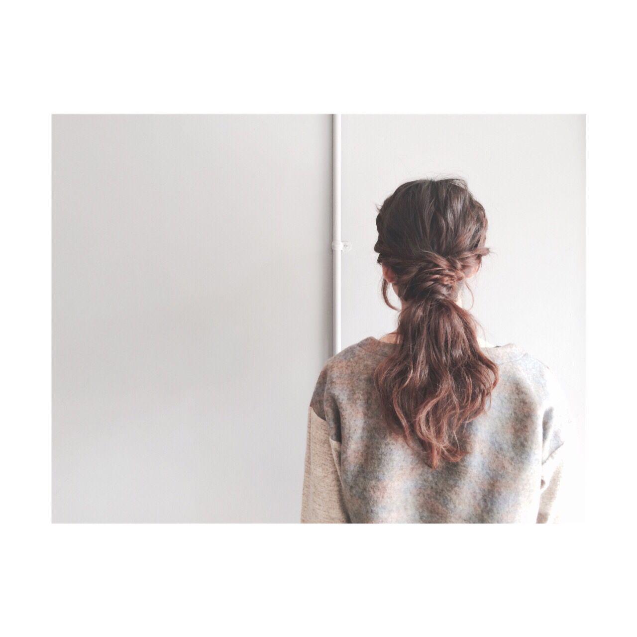 ストリート 簡単ヘアアレンジ ゆるふわ ロープ編み ヘアスタイルや髪型の写真・画像 | ayami / PELO
