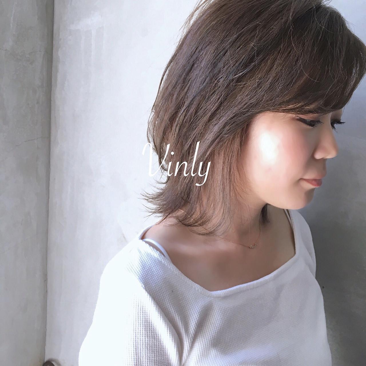 デート 簡単ヘアアレンジ オフィス ナチュラル ヘアスタイルや髪型の写真・画像 | norihiko yoshimoto / Vinly hair salon