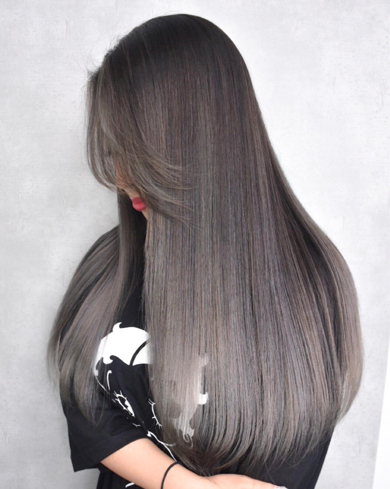 外国人風 ハイライト ナチュラル ロング ヘアスタイルや髪型の写真・画像 | Gakkie Yutaro / ZeLo