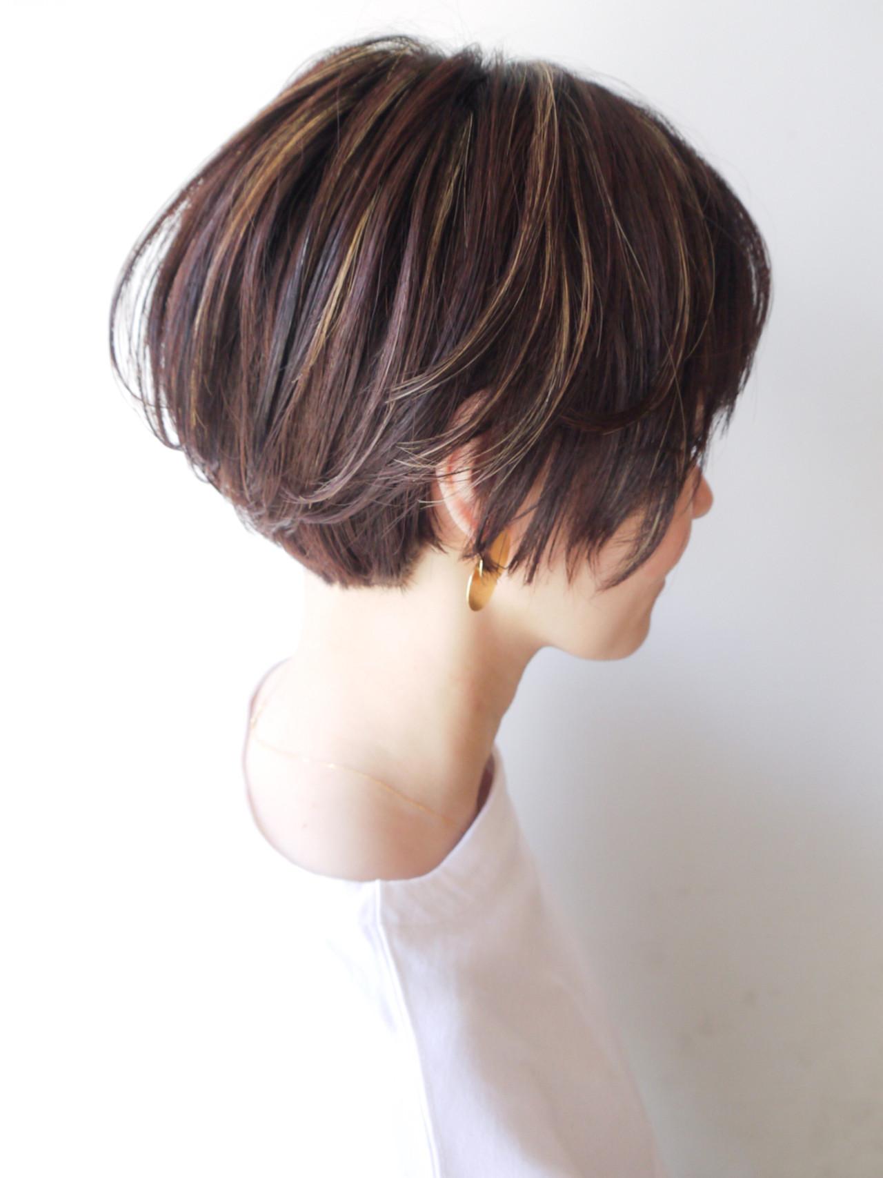 モテ髪 ショート コンサバ ショートボブ ヘアスタイルや髪型の写真・画像   HIROKI / roijir / roijir