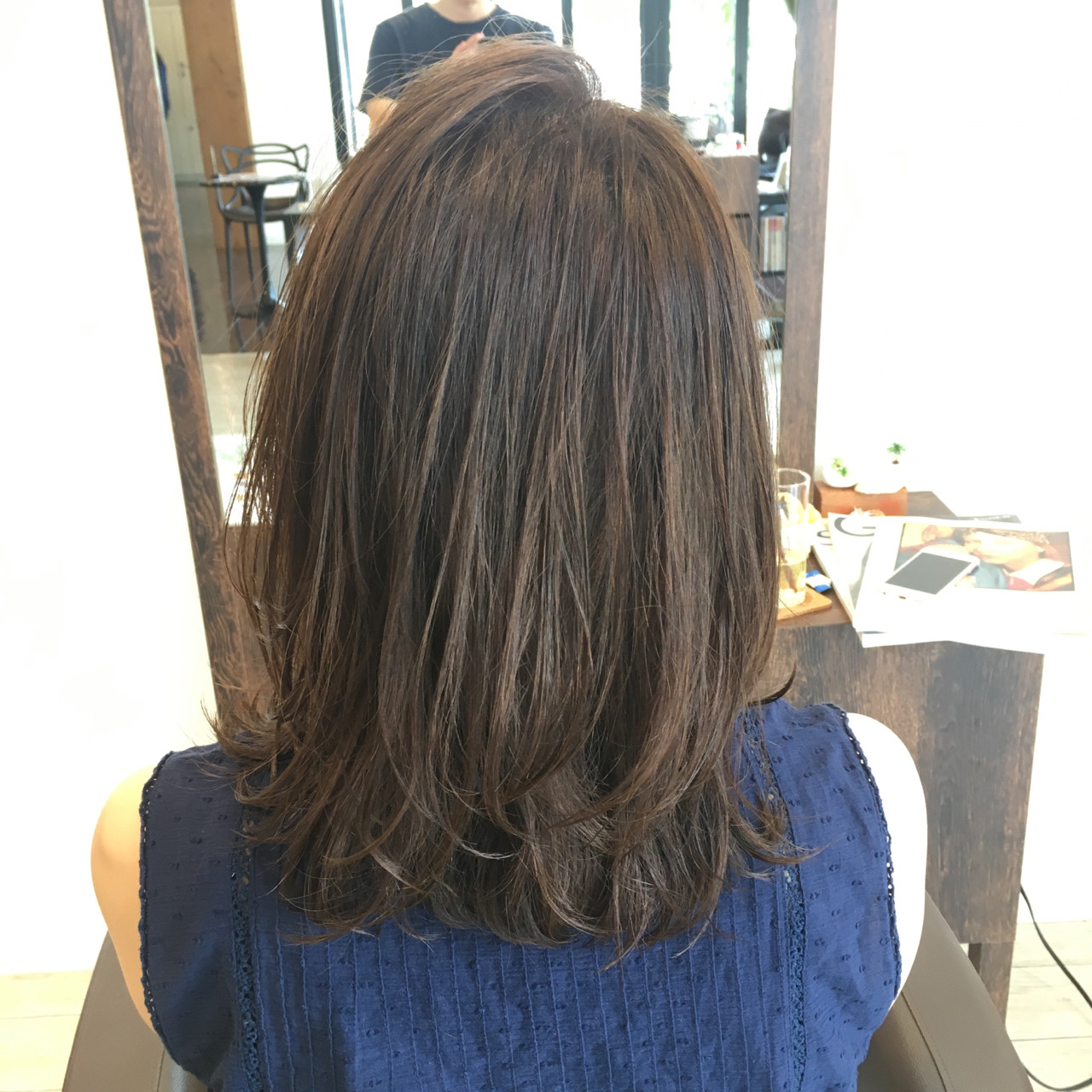 ナチュラル 暗髪 オフィス ウェットヘア ヘアスタイルや髪型の写真・画像 | 岩切陽平 / Hair&Beauty AURA