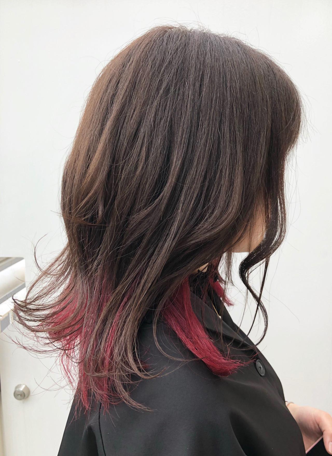 ストリート ベリーピンク デート グラデーションカラー ヘアスタイルや髪型の写真・画像 | 出塩 浩之 / MORIO FROM LONDON さいたま新都心