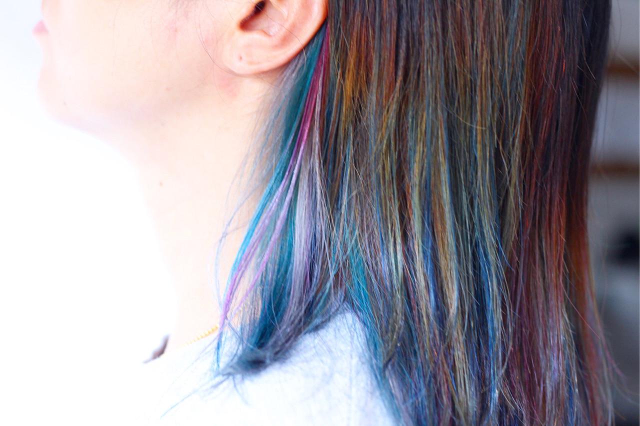 ピンクアッシュ ナチュラル セミロング ベリーピンク ヘアスタイルや髪型の写真・画像 | creap / creap