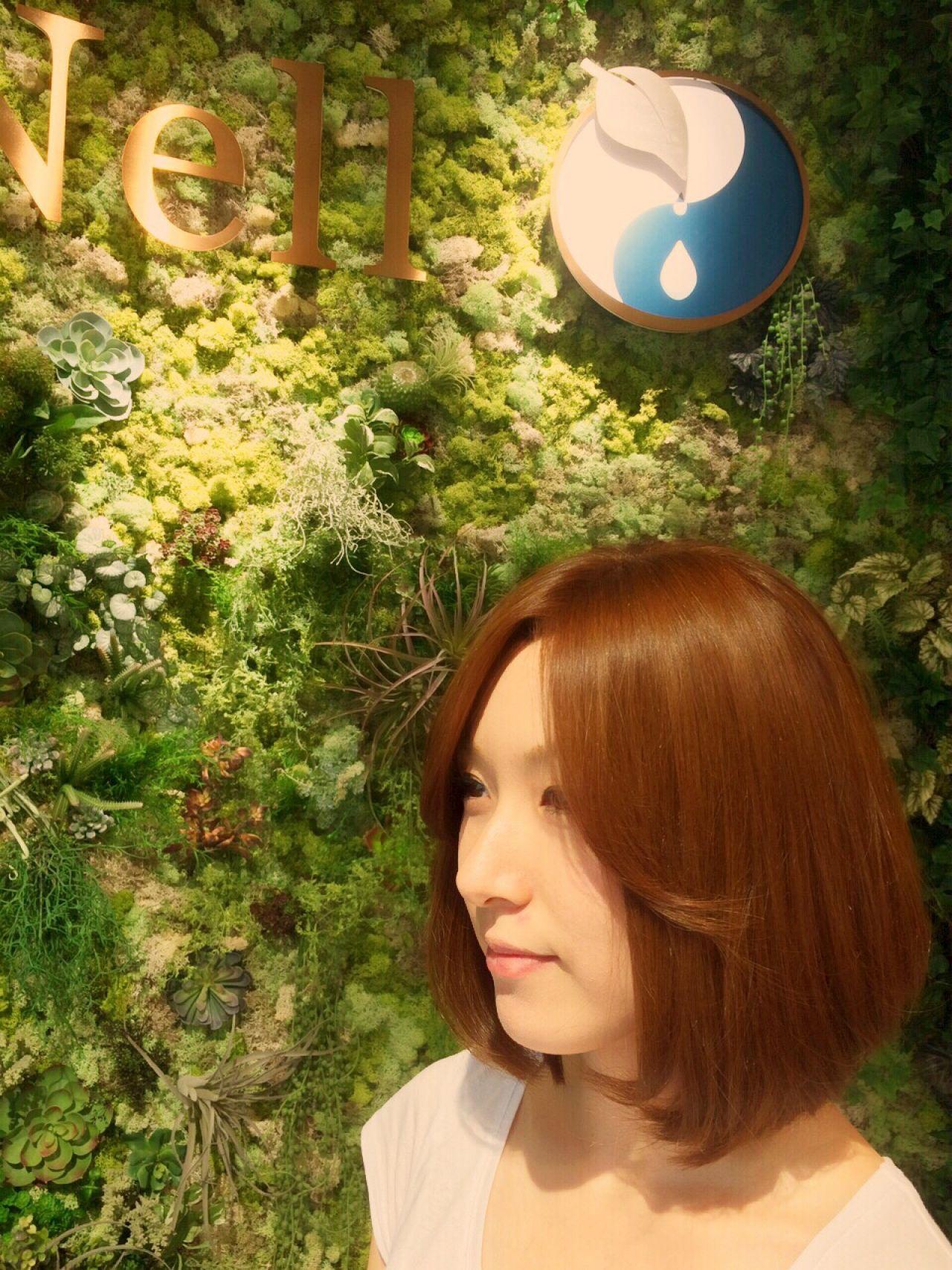 モテ髪 ボブ 艶髪 ナチュラル ヘアスタイルや髪型の写真・画像 | 山岸 一樹 / ANell【エネル】