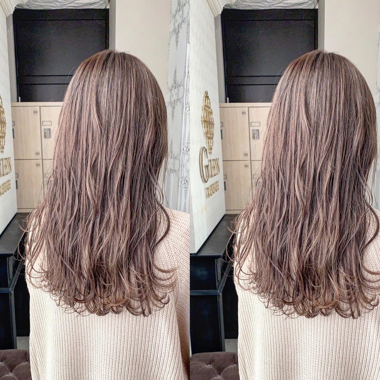 ヘアカラー イルミナカラー セミロング ミルクティーベージュ ヘアスタイルや髪型の写真・画像 | 川原拓也 / GIEN ROUGE