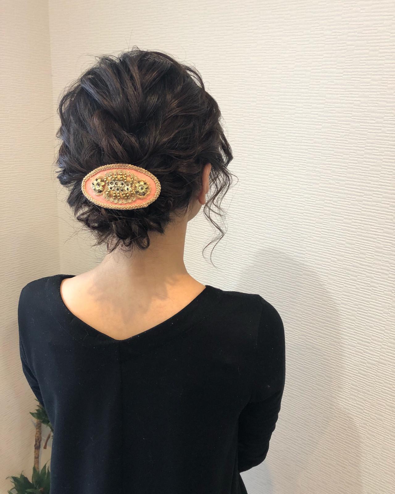 アップ フェミニン アップスタイル ボブ ヘアスタイルや髪型の写真・画像