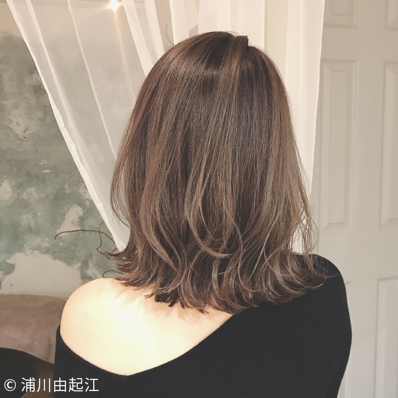 女子力 デート 大人かわいい ボブ ヘアスタイルや髪型の写真・画像 | 浦川由起江 / nanon