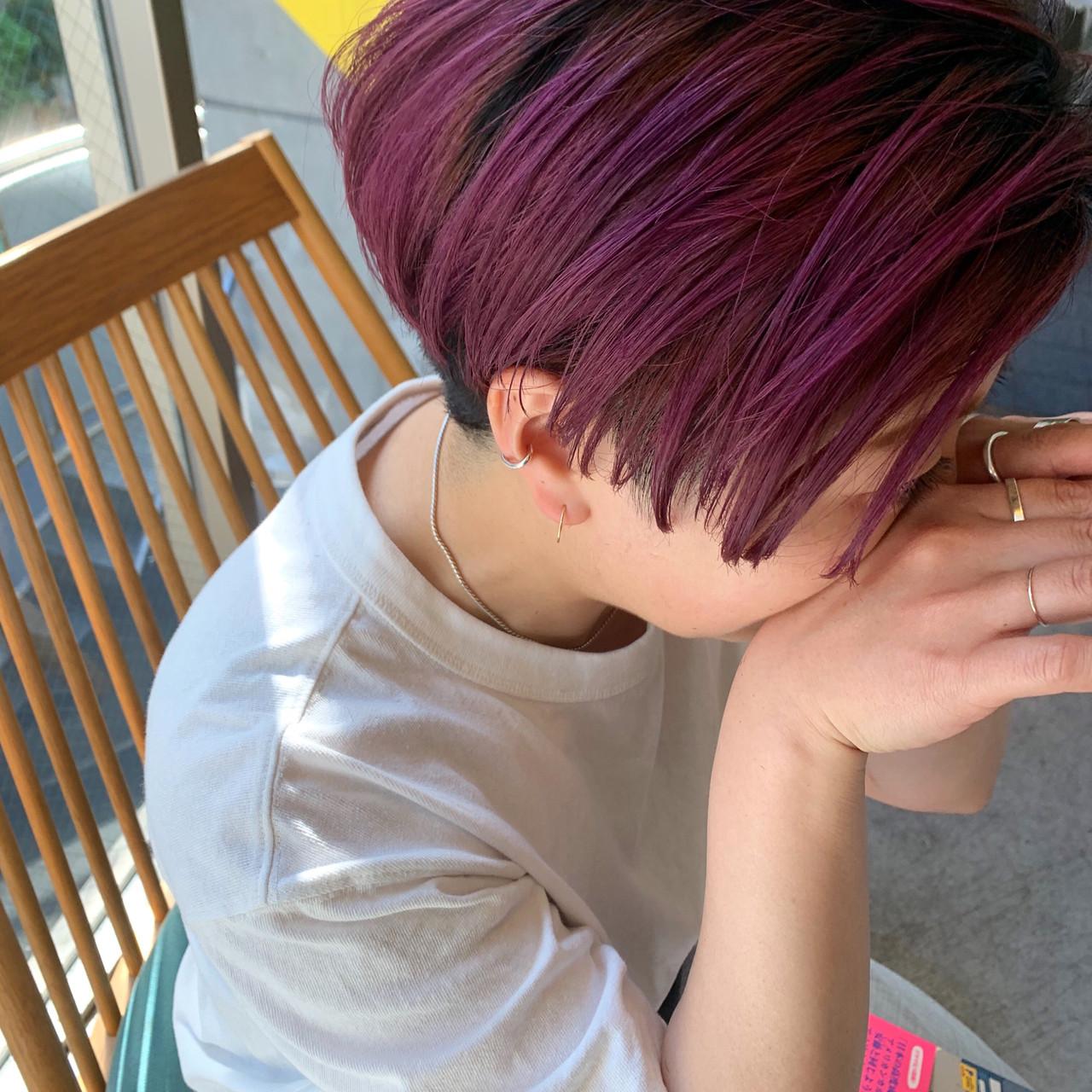 パーマ デート ショート ヘアアレンジ ヘアスタイルや髪型の写真・画像 | bibito crew / bibito