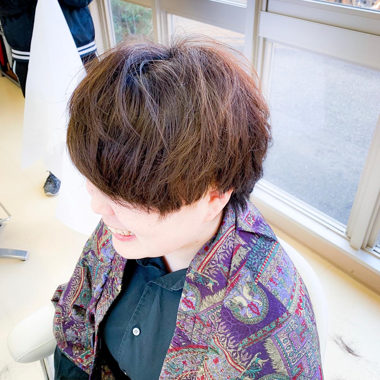 ナチュラル 大人かわいい ショート ハンサムショートヘアスタイルや髪型の写真・画像