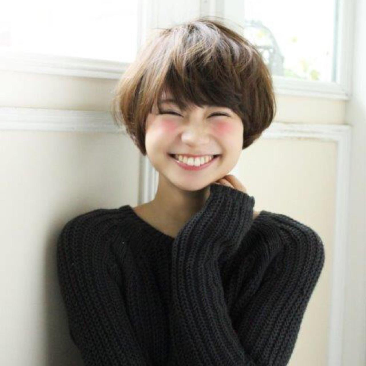 ナチュラル キュート 小顔 似合わせヘアスタイルや髪型の写真・画像