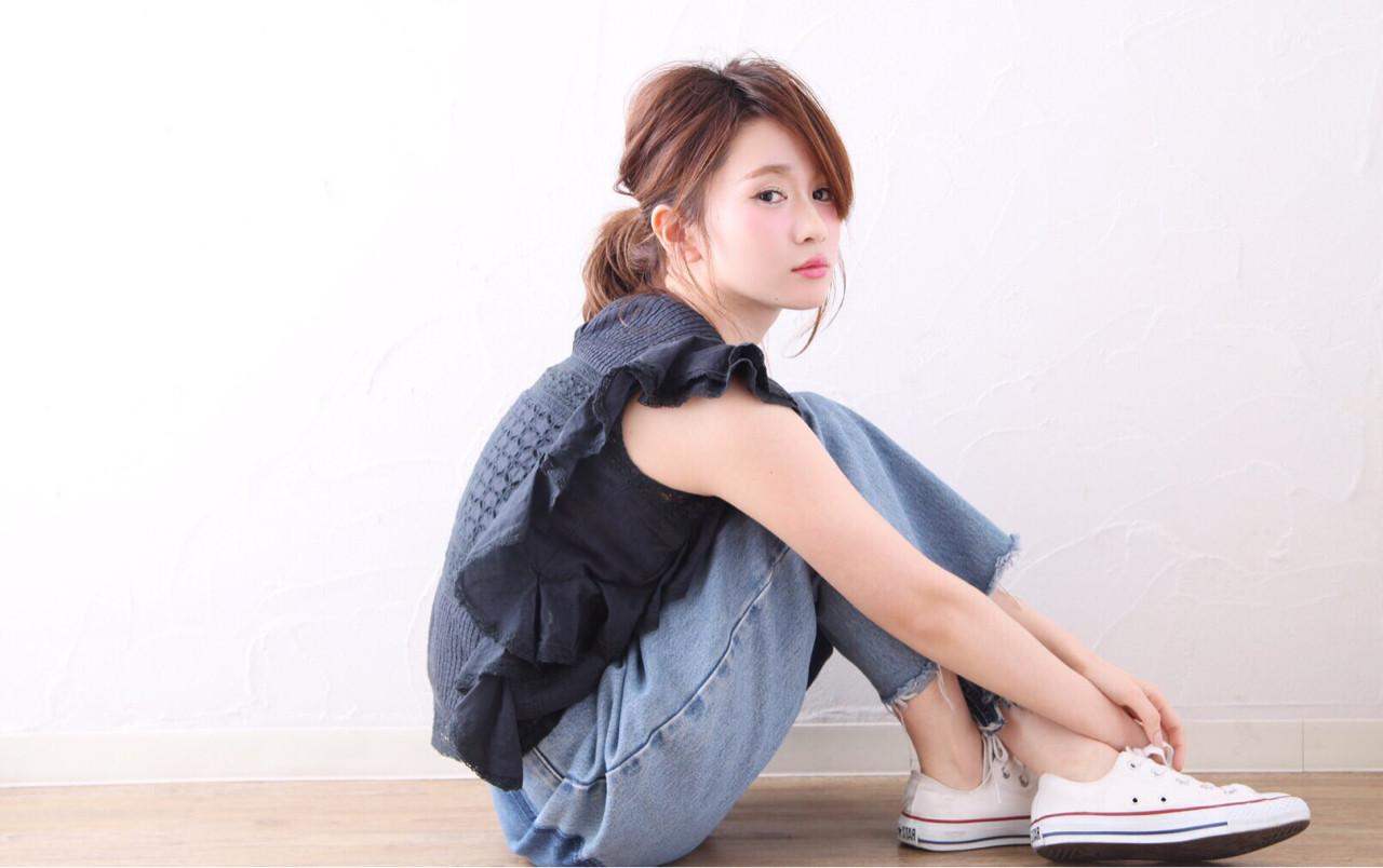 ショート ナチュラル ヘアアレンジ 簡単ヘアアレンジ ヘアスタイルや髪型の写真・画像   mayu /