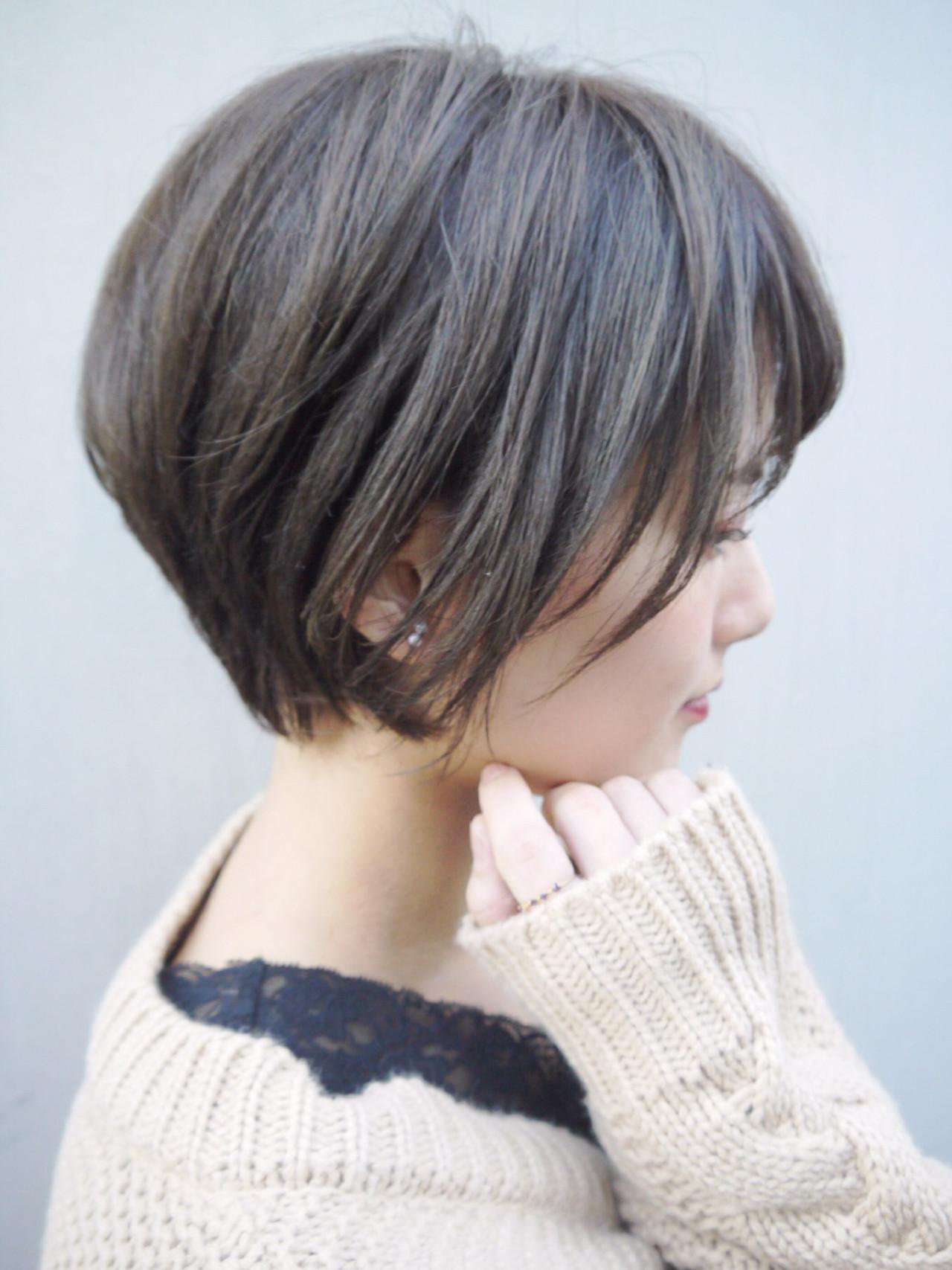 デート ストリート ショート アウトドアヘアスタイルや髪型の写真・画像