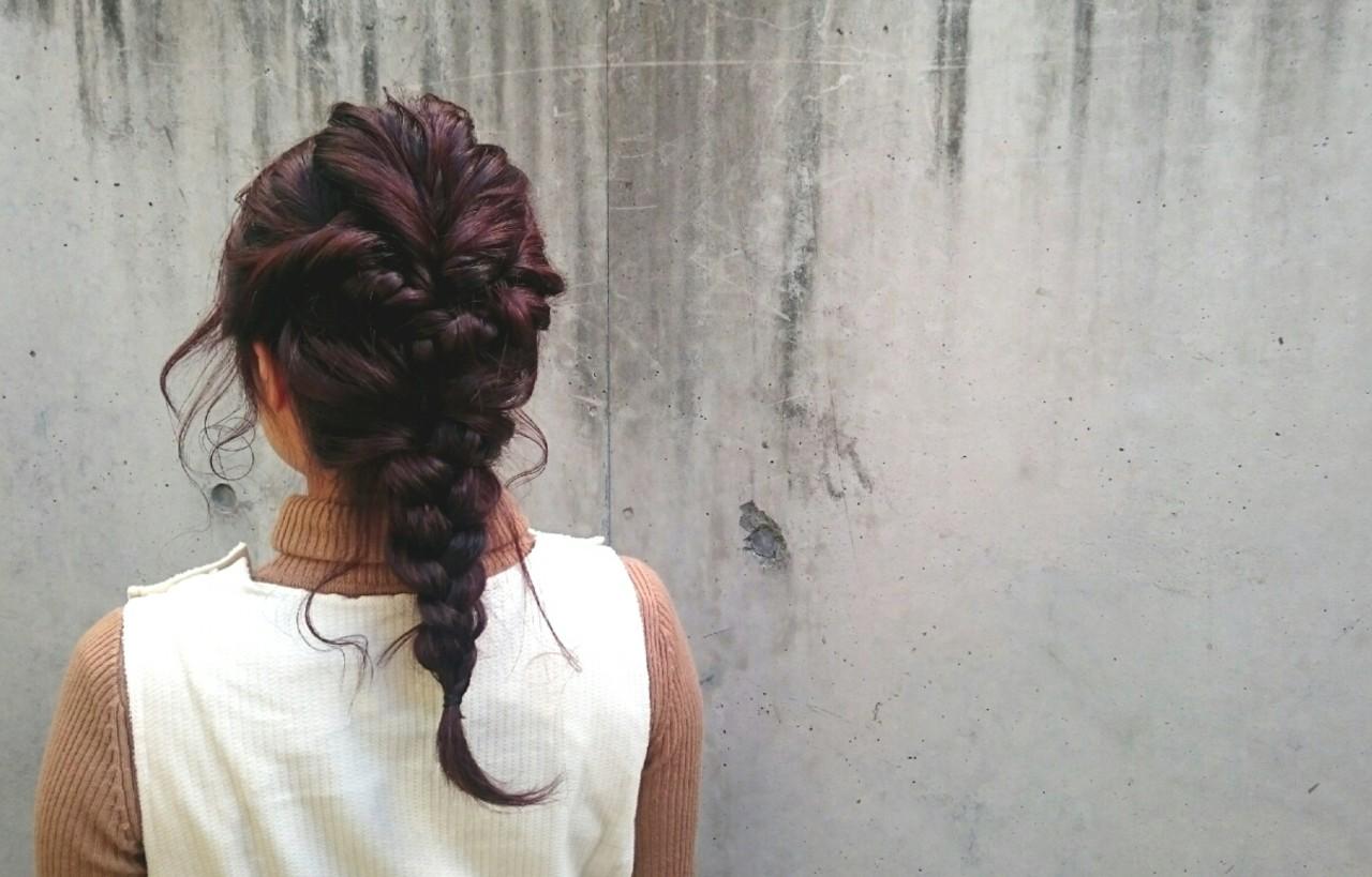 簡単ヘアアレンジ ストリート 編み込み ヘアアレンジ ヘアスタイルや髪型の写真・画像   安達瑛 / Ravo hair