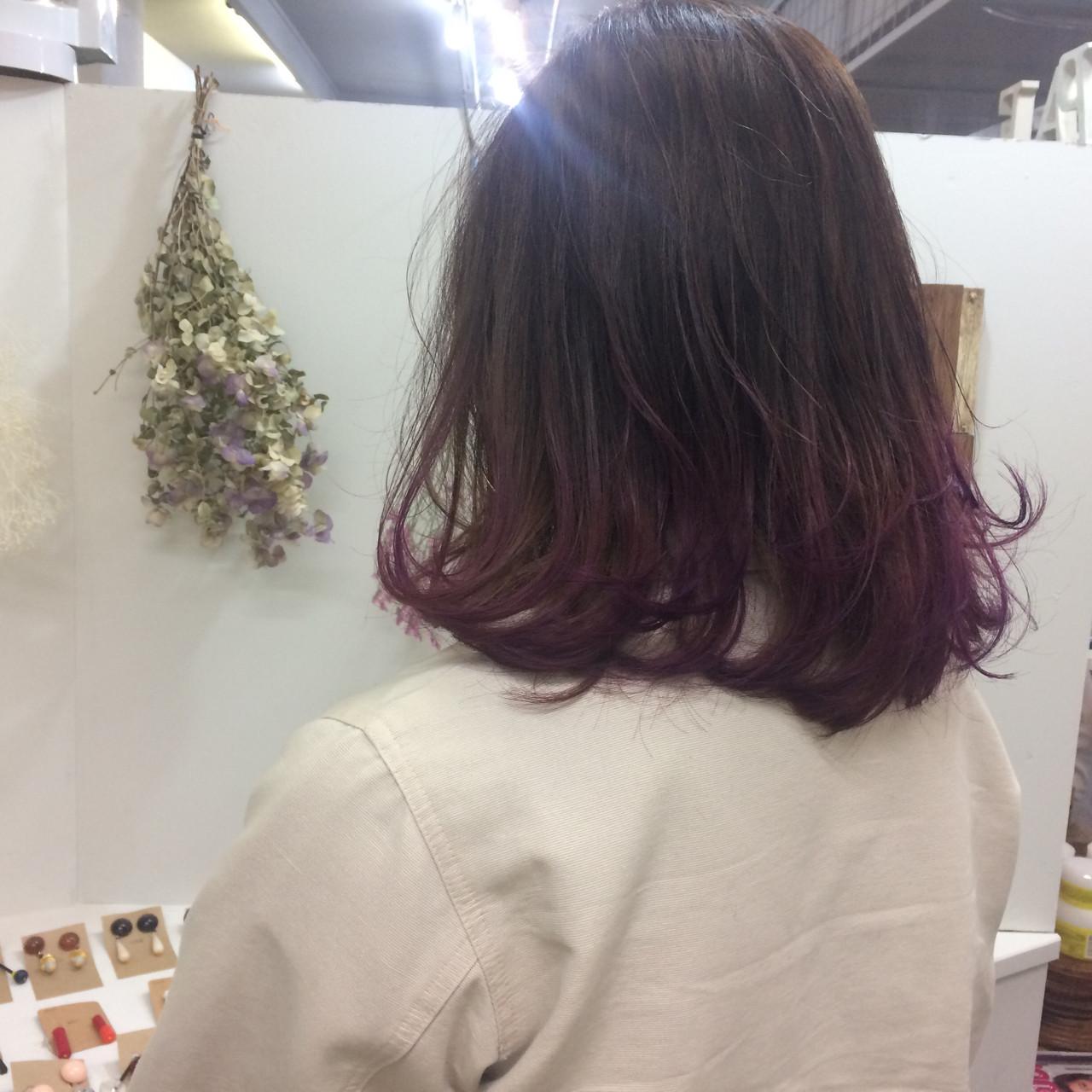 ストリート ハイトーン ダブルカラー グラデーションカラーヘアスタイルや髪型の写真・画像