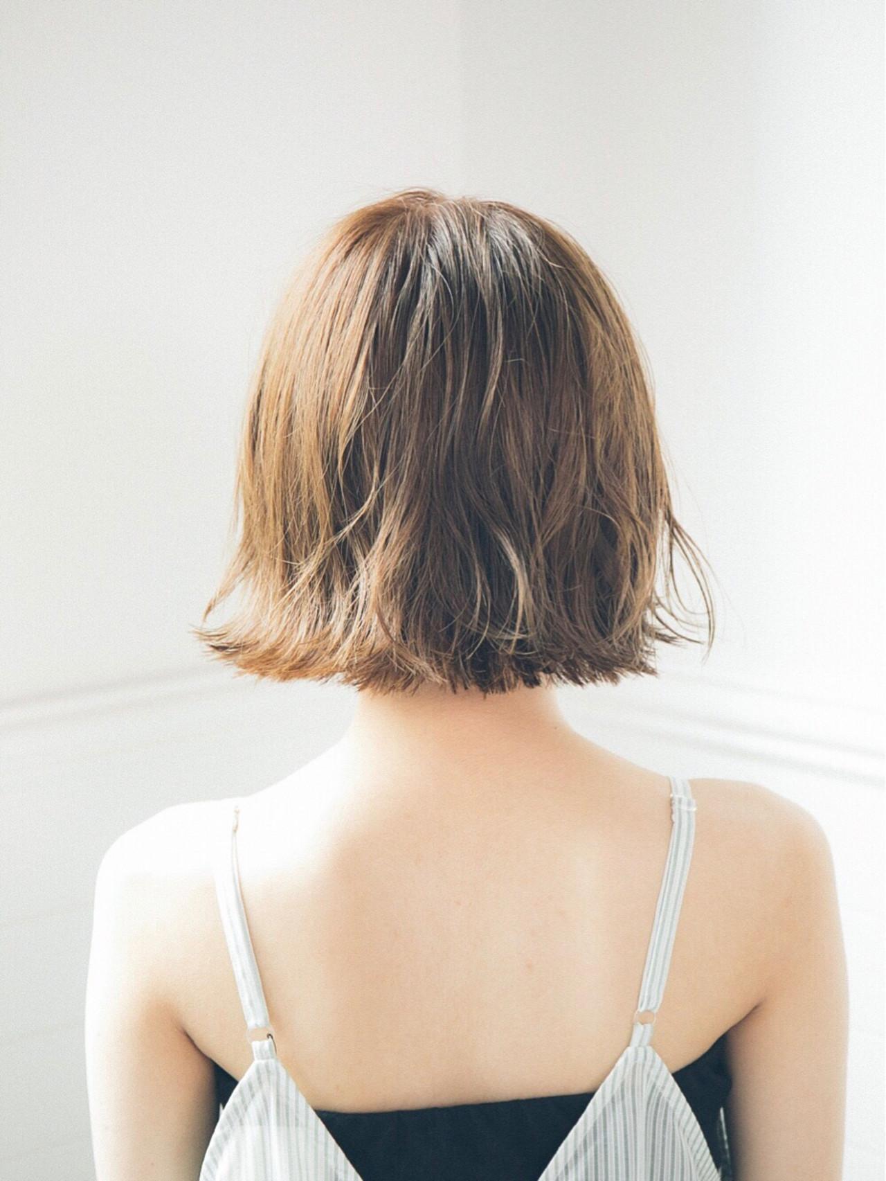 涼しげ ナチュラル 切りっぱなし ヘアアレンジ ヘアスタイルや髪型の写真・画像 | 石津 圭祐 December / December