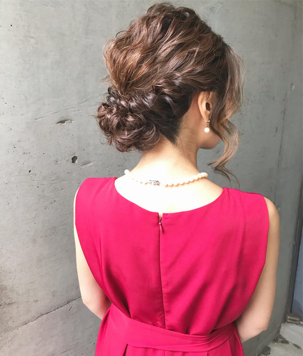 結婚式 アップスタイル フェミニン 大人かわいいヘアスタイルや髪型の写真・画像