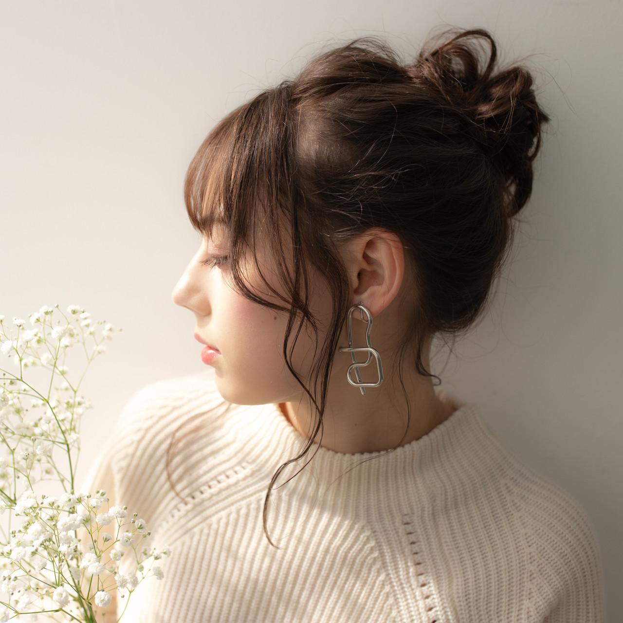 大人かわいい ヘアアレンジ ナチュラル ミディアム ヘアスタイルや髪型の写真・画像 | 伊藤 大樹 / Lufeli