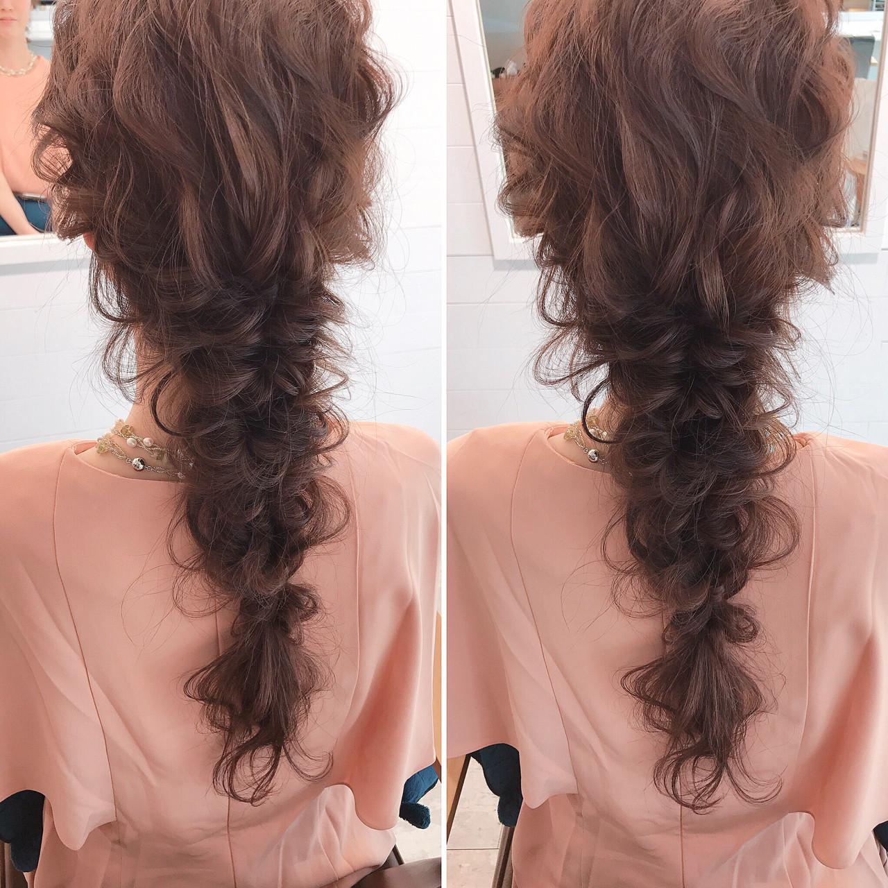 編み込み ミルクティー 上品 ヘアアレンジ ヘアスタイルや髪型の写真・画像 | YUJI / LIICHI / LIICHI (リイチ)