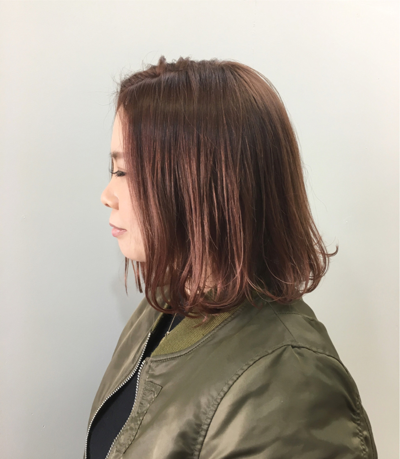 モード ハイライト ボブヘアスタイルや髪型の写真・画像