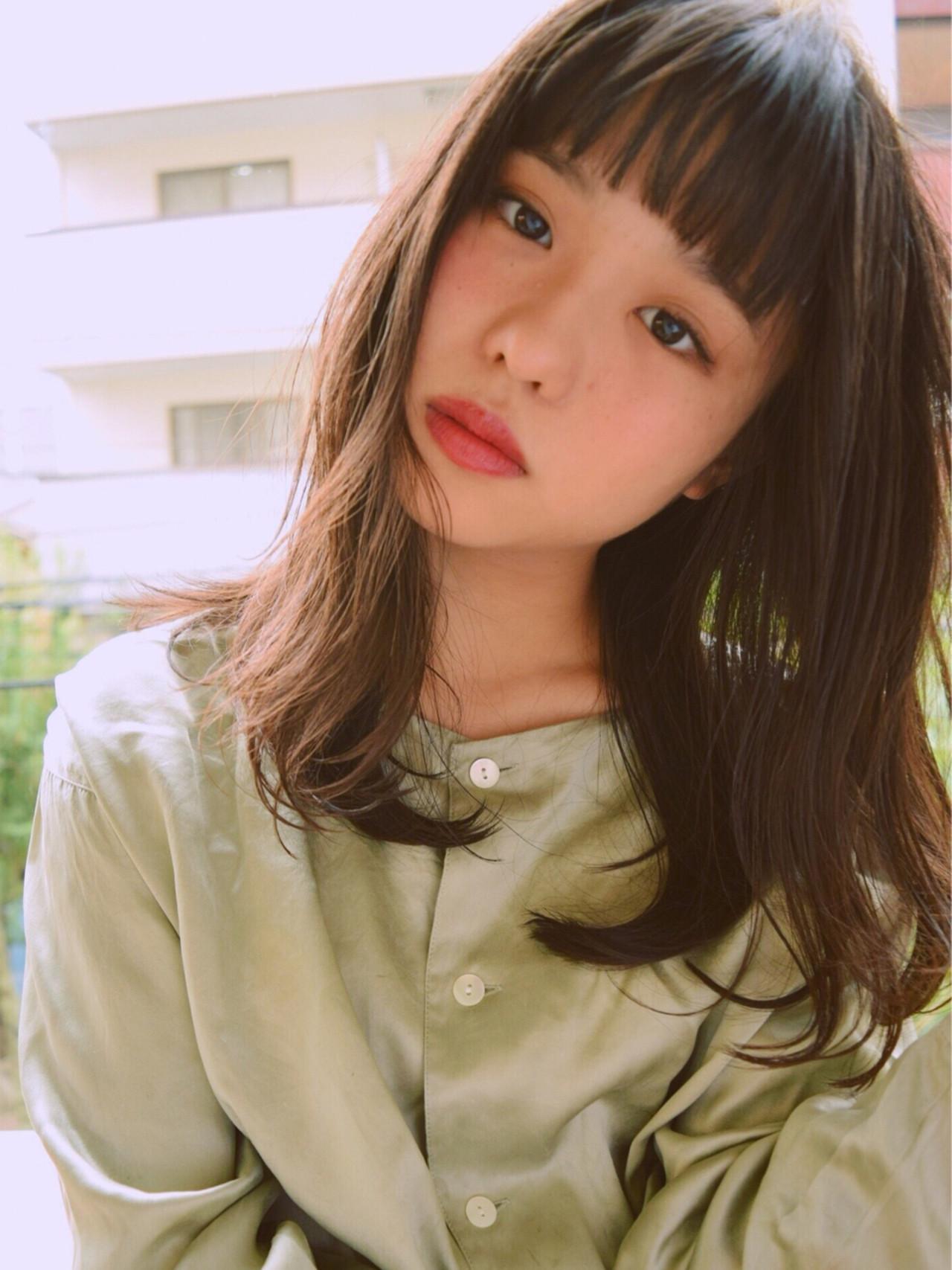 パーマでレベルアップ!無敵のかわいさ♡黒髪セミロング 神保 輝 / Neon.by.newton