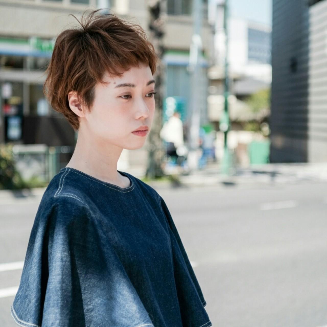ショート ベリーショート オン眉 大人かわいい ヘアスタイルや髪型の写真・画像 | 大金亮介 / LiLi by Glanz