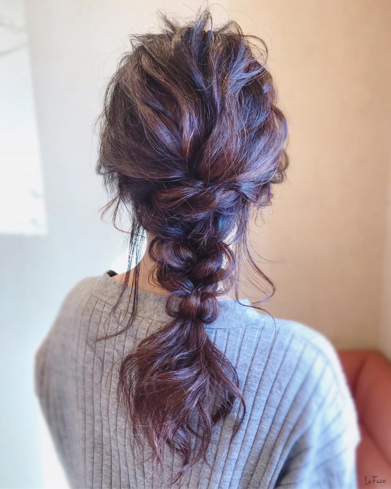 簡単ヘアアレンジ フェミニン お呼ばれ 結婚式ヘアスタイルや髪型の写真・画像