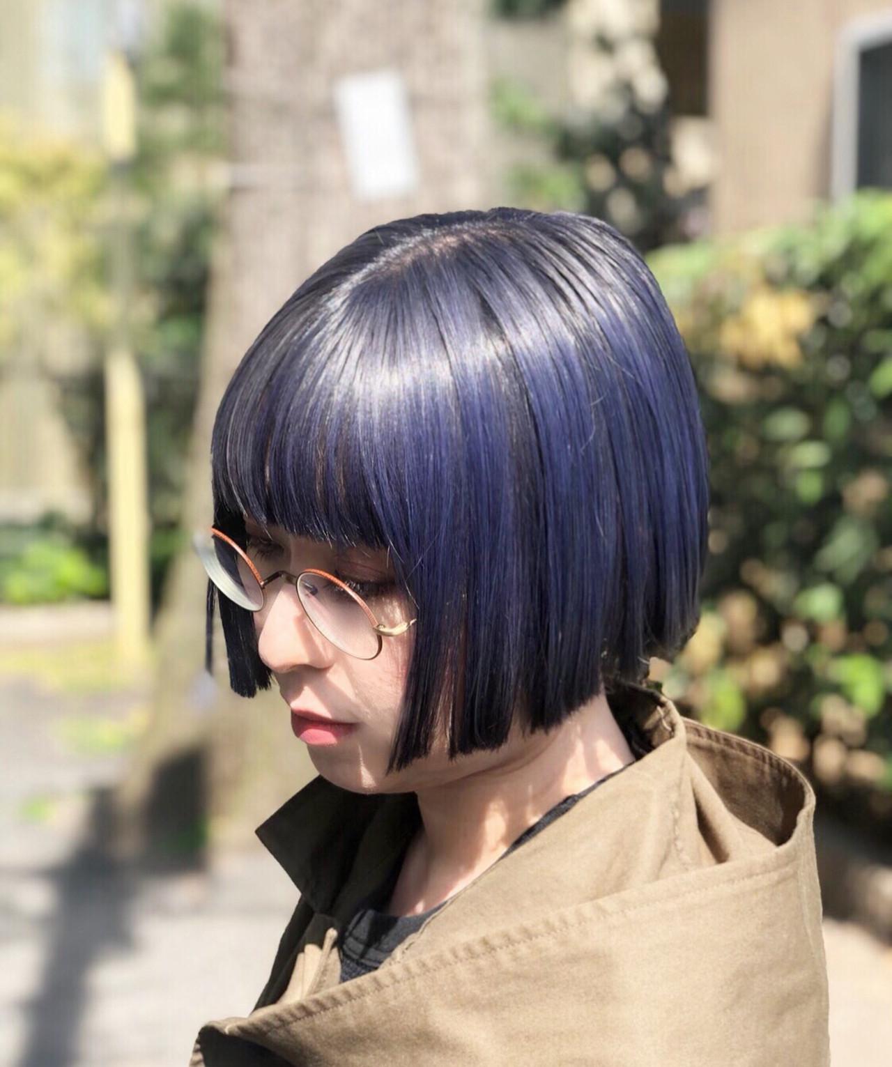ボブ ナチュラル ユニコーンカラー インナーカラー ヘアスタイルや髪型の写真・画像 | RUMINA //高田ゆみこ / Rumina
